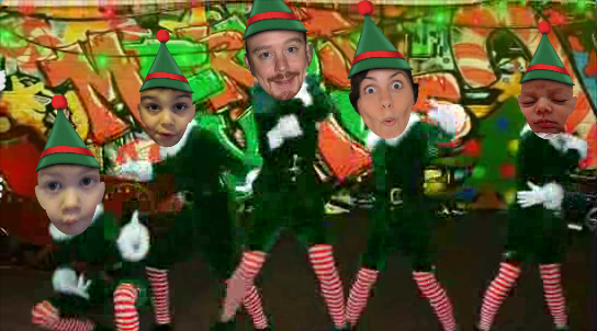 The Trimpey Family as Dancing Elves
